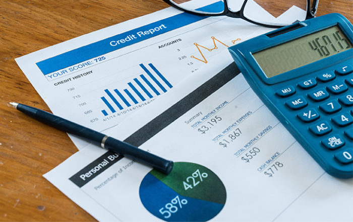 financial statements and calculator
