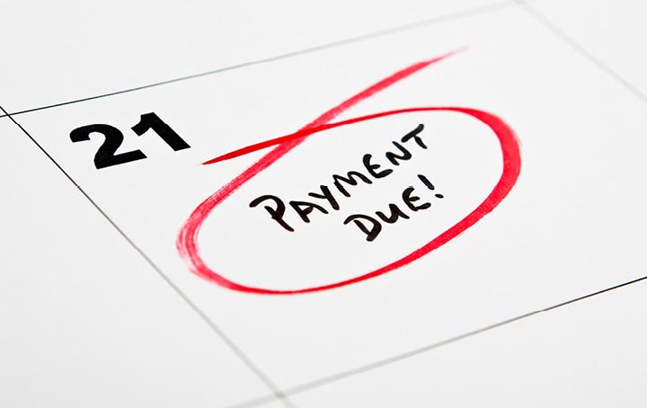 Paying company debts by instalments