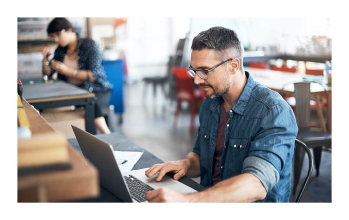 Male on laptop