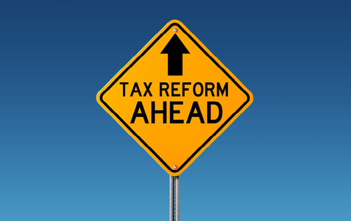 Tax reform sign